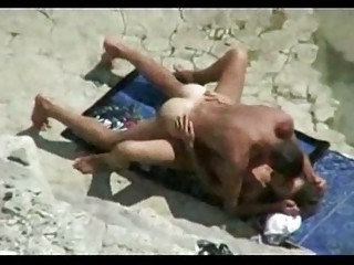 duo make porn on a nudism shore  amador casal