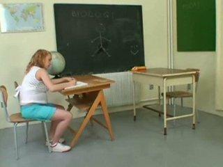 pregnant - young gang bang into classroom