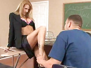 sweet professor drives a huge chubby libido