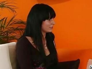 stunning dark haired hottie with super  titties