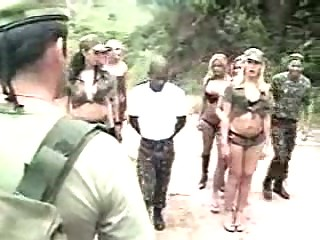 shemales and soldiers porn into a forest