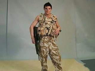 gay hunk military man obtains off denims