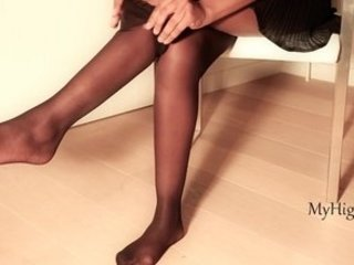 wonderful pantyhose and high shoes