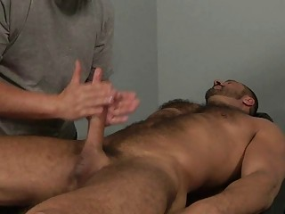 muscled gay stud acquires his butt tasted on