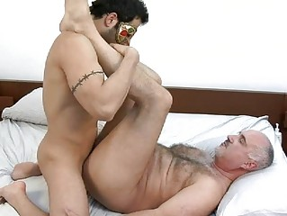masked and tattooed gay hunk acquires rammed
