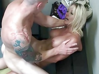 milf is taped when pierced by shopkeeper