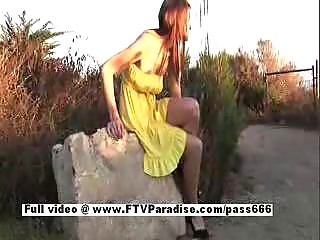 gabby from ftv girlsamateur redhaired flashing