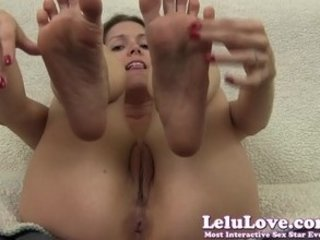 lelu love-small dick humiliation toe piercing