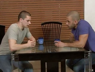 handsome gay hunk busts his lovers taut butt