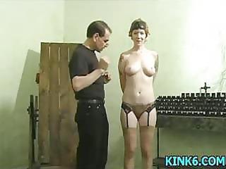 slave hogtied inside her panties