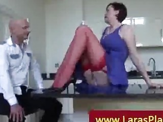 facesitting by brunette with brown pantyhose