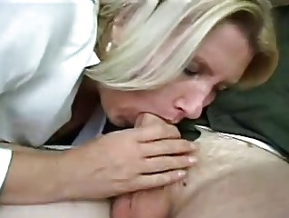 bleached older  milf acquires gangbanged
