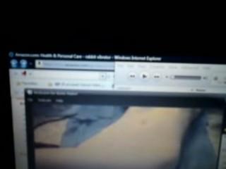 woman pleases on webcam