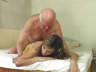 awesome pale bunny shags with granny grownup hunk