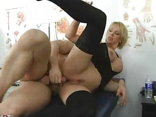huge fake tits on these facialed milf