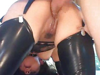 arse inside latex