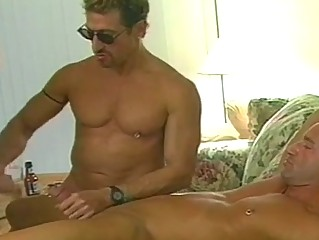 horny gay bears sizzling foursome drill