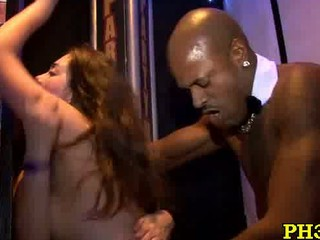 naughty cheeks licking cock into restaurant