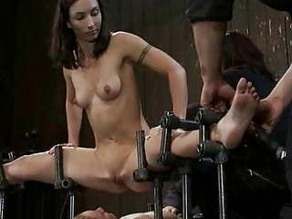 fighting babes obtain punished and butt drilled