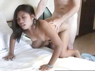 inexperienced eastern  banged doggystyle