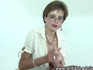 femdom grownup brit jerks off libido