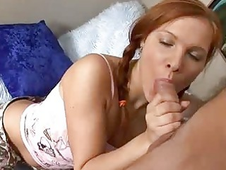 ginger girl obtains a dick inside her oral