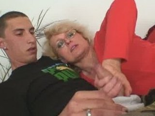housewife finds him gangbanging her granny lady