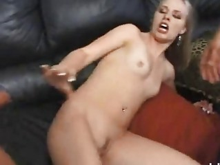 delightful pale taking raped by 2 giant cocks!