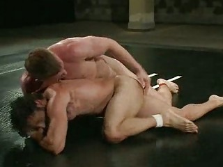 naughty gay guys acquiring mad during wrestle