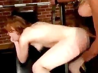 girl licking and drilled with strapon tortured