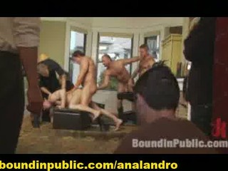 a bdsm slave outdoor gangbanged by policemen
