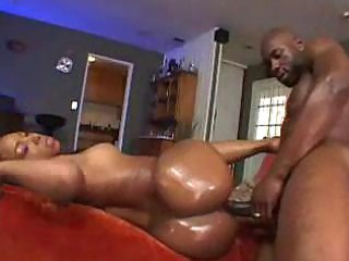 giant heavy brown butt oiled up for super  porn
