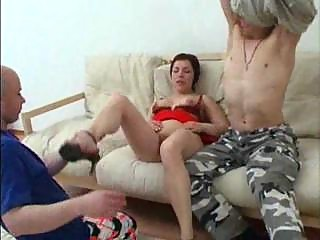 lady has ass fuck with her son and his lover