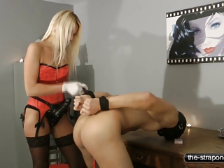 natalie brown and her strapon drill vibrator