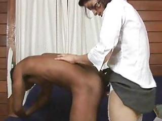 shemale boss gangbangs her employee