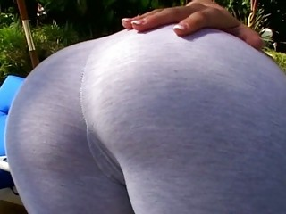 super blond woman angel gives difficult bj outside