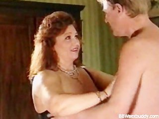naughty bbw acquires gangbanged in hotel quarters