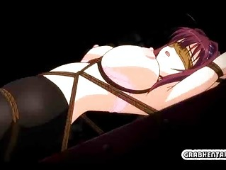 bondage and blindfold hentai takes fisting her