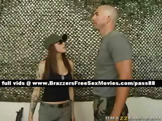 filthy rufous babe into the army checks her boys