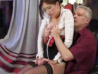 amateur chick pierced by granny fellow