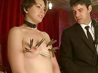 french chick bound and double penetrated
