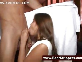dancing bear cfnm with a cum