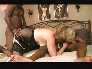 bbw girl inside brown nylons receives drilling