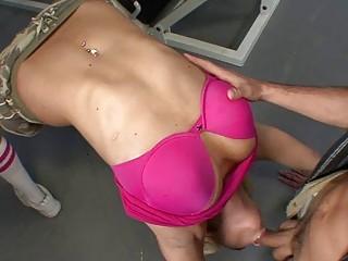 Hottest nVictoria White sucking cock in sport club