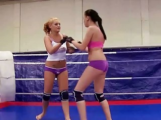 beautiful chicks into awesome dike wrestling