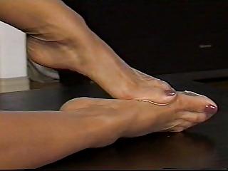hot pantyhose foot