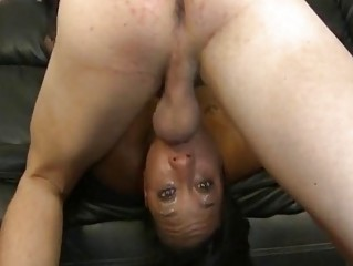 asshole brown bitch gagging on ashen dick