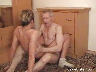 blonde fucker likes jumping on elderly farts