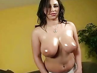 oiled brunette hoe obtains her brutally pumped