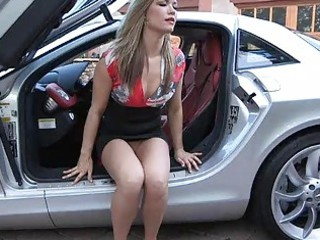 carolyn beautiful fresh blond in short skirt